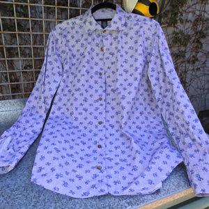 Eleventy Mens Bird Shirt Made in Italy 41/16